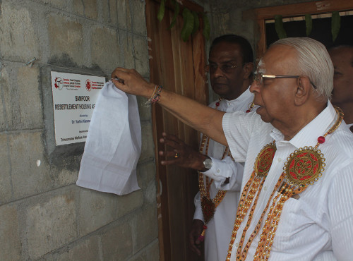 First stage of Sampur (Sri Lanka) Housing Project completed with the support of Tamil Canadians.